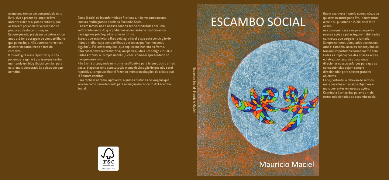 capa publicada escambo social - clube de autores
